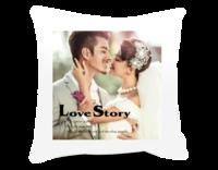 爱情故事 爱情 影楼 情侣 最新抱枕-短皮绒面双面抱枕