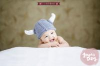 可爱韩风-宝贝的百天纪念 祈愿宝宝长命百岁-24寸横式海报