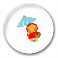 打伞的小孩-3.2个性徽章