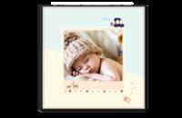 手绘可爱宝宝成长记(生辰、百天、周岁)等风也等你的美好生活-8x8单面银盐水晶照片书21p