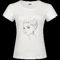 酷酷MM时尚修身纯棉T恤女款