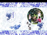 花好月圆 高档大气全家福(青花瓷 中国风 简洁 潮流 现代 )-8x12对裱特种纸30p套装