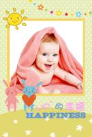 宝贝幸福百分百(男孩女孩)照片可替换--亲子 可爱萌-8x12双面水晶印刷照片书20p