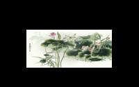 国画-情侣骨瓷白杯