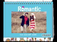 浪漫爱情-8寸双面印刷台历