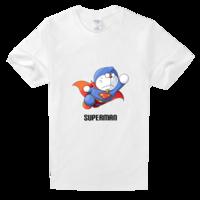 炫酷超人机器猫舒适白色T恤