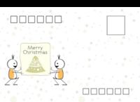 Merry Christmas-等边留白明信片(横款)套装