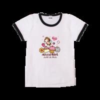 矢量 卡通 可爱动物 人物-时尚童装撞色T恤