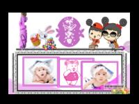 快乐宝贝2(封面宝宝照片可替换)-亚克力台历