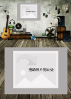 炫酷音乐工作室版画-7寸木版画竖款