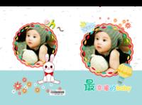 最幸福的宝贝--可爱亲子,萌萌的 小宝贝 儿童摄影 成长故事-硬壳对裱照片书20P