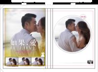 如果爱,浪漫爱(封面照片可换)-硬壳精装照片书20p