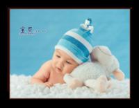 我可爱的宝宝-8寸横式木版画
