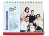 回味幸福的家庭-全家福-照片可替换-10寸双面印刷台历