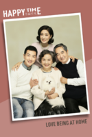 【幸福时光-全家福】(图文可换)清新、时尚-8x12双面水晶印刷照片书20p