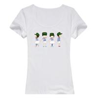 卡通  毕业季 母版-女款纯棉白色T恤