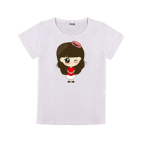 可爱娃娃童装纯棉白色T恤