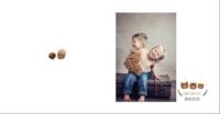 可爱小熊宝贝成长纪念册-方8硬壳照片书40p