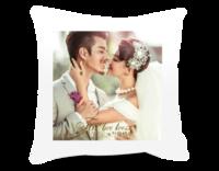 为爱栖息(图片可换)爱情结婚纪念-短皮绒面双面抱枕