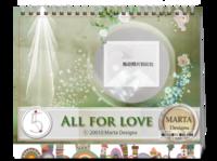 All  For Love-8寸双面印刷台历