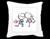 我们的爱情 浪漫童话故事-短皮绒面双面抱枕